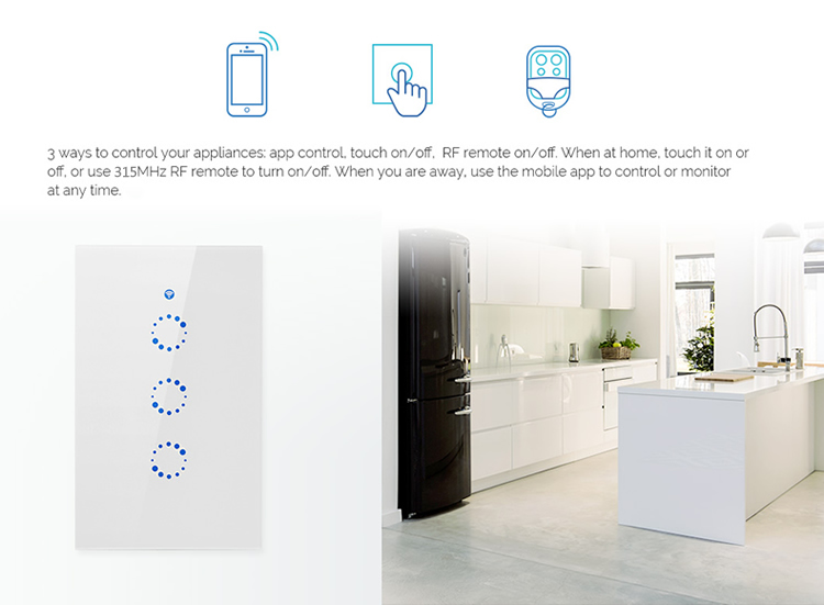 Sonoff T1 Us  1gang Smart Wall Touch Light Switch  U2013 Smart